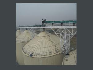 Maize steel silo